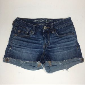 AEO super stretch cutoff jean shorts #293